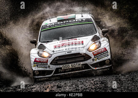 Elfyn Evans at the WRC World Rally Championship, Wales Rally GB, Wales, UK - Stock Photo