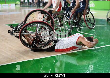 Rio de Janeiro-Brazil, September 16 , 2016 Paralympics Games 2016 Basketball USA and TURKY - Stock Photo