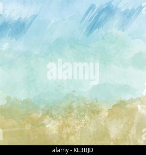 Beautiful hand painted watercolor background , vector format - Stock Photo
