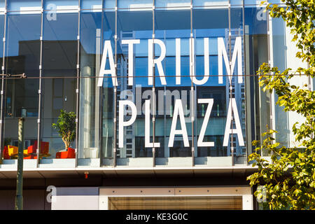 Frankfurt am Main, Germany. Atrium Plaza in the Mainzer Landstraße 178 - 190. 14th Oktober 2017. - Stock Photo