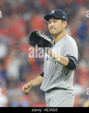 Houston, Texas, USA. 13th Oct, 2017. Masahiro Tanaka (Yankees) MLB : New York Yankees starting pitcher Masahiro - Stock Photo