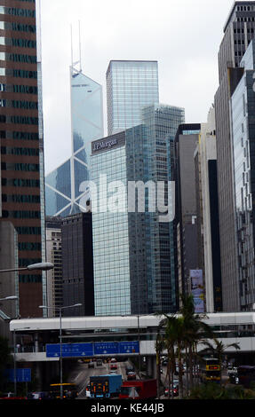 Hong Kong's financial district. - Stock Photo
