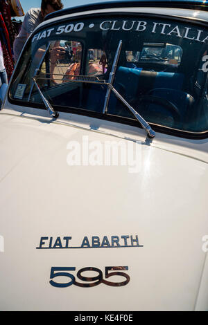 europe,italy,tuscany,italy,fiat 500,old car,vintage car,abarth,colors,rally - Stock Photo