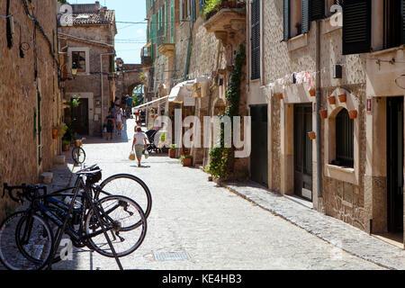Valldemossa, Majorca, Spain on September 2017 - Stock Photo