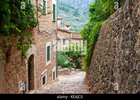 Fornalutx, Balearic Islands, Spain on September 2017 - Stock Photo