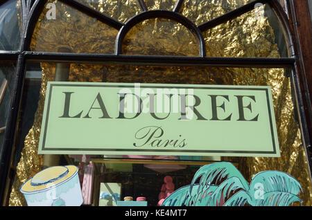 Laduree patisserie bakery in Burlington Arcade, London, UK. - Stock Photo