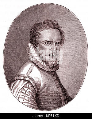 Ludwig Senfel  - portrait of the German composer. c. 1486 - 1555. Senfl. Senfelius. Sennfl. Senphlius. - Stock Photo