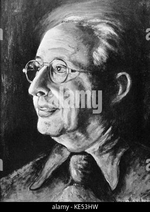 George Gershwin 's painting of of Jerome Kern 1937  (American composer 27  January  1885 –11  November  1945). GG: - Stock Photo