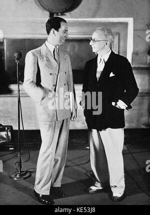 George Gershwin and  and Jerome Kern (American composer 27 January  1885 – 11 November   1945).   American composer - Stock Photo