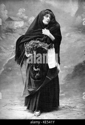Gemma Bellincioni as Amalda in 'La Cabrera' -  opera by Gabriel Dupont at the Theatre National de l'Opera Comique, - Stock Photo