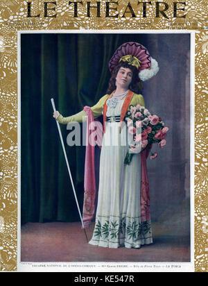 Claire Friche as Floria Tosca Claire Friche as Floria Tosca in 'Tosca' ,  opera   by Giacomo Puccini, with libretto - Stock Photo