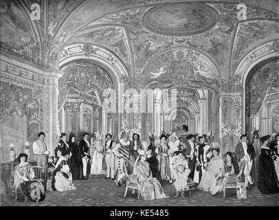 'Le domino noir' 'Le domino noir' (The Black Domino), opéra comique by the French composer Daniel Auber with libretto - Stock Photo