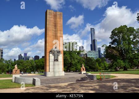 The view around Royal Botanic Garden, Melbourne, Australia. Pic was taken in September 2016. - Stock Photo