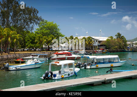 The Seychelles, Mahe, Victoria, Marine Charter Quay, leisure boats - Stock Photo