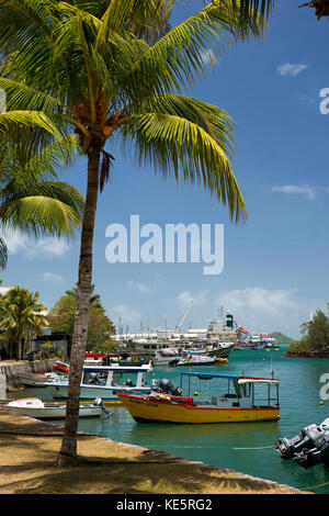 The Seychelles, Mahe, Victoria, Marine Charter Quay, leisure boats