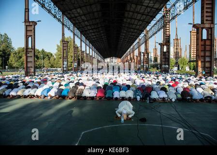 Turin, Italy - September 1, 2017: Islamic Sacrifice Festival at Dora Park in Turin, Italy - Stock Photo