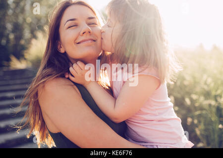 Picture of mother and child with special needs - Stock Photo