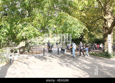 People visiting Rotterdam Blijdorp  zoo, The Netherlands. - Stock Photo