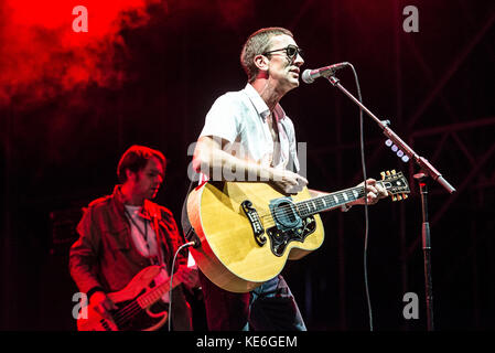 Turin,Italy-August 26, 2017: Richard Ashcroft performs live at the Todays festival on August 26, 2017 in Turin, - Stock Photo