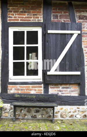 Detail of Medieval Farmhouse in Normandy, France - Stock Photo