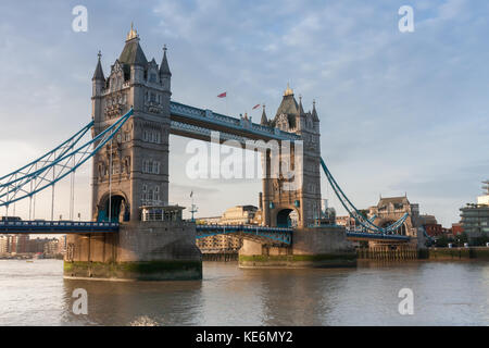 Tower Bridge in the morning, London, England. - Stock Photo