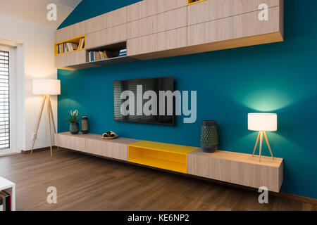 Contemporary living-room interior - Stock Photo