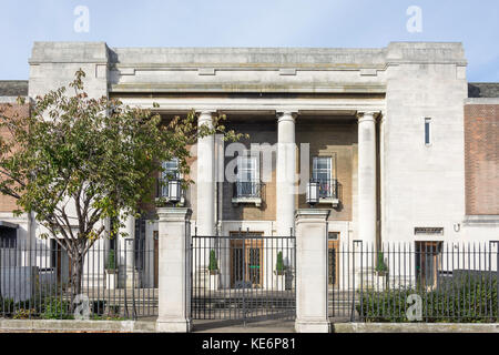 Stoke Newington Town Hall, Church Street, Stoke Newington, London Borough of Hackney, Greater London, England, United - Stock Photo