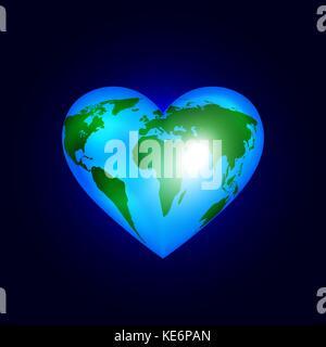 Heart of the world - Stock Photo
