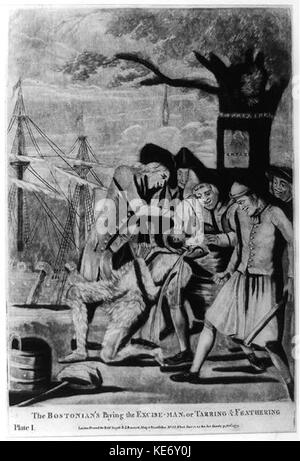 The Bostonian's paying the excise man, or tarring & feathering LCCN2004673302 - Stock Photo