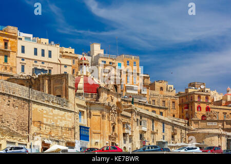 Ancient fortifications of Valletta, Malta. - Stock Photo