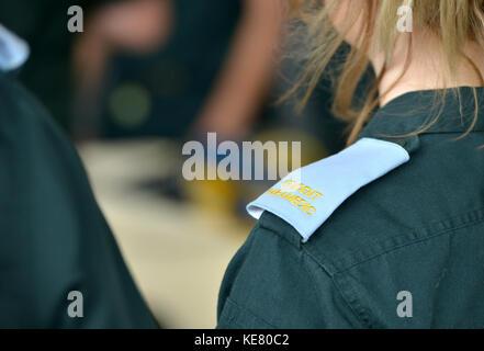 trainee ambulance paramedic - Stock Photo