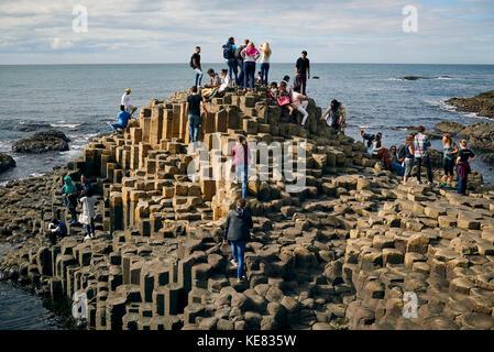 Giant's Causeway, Northern Ireland; Ireland - Stock Photo