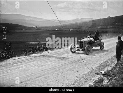 Otto Hieronimus in his Steyr at the 1922 Targa Florio (3) - Stock Photo