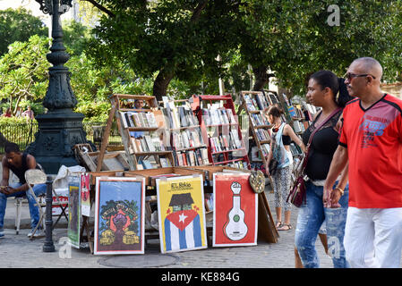 Booksellers Plaza de Armas Habana Vieja Cuba - Stock Photo