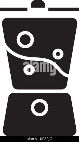 blender smoothie icon, vector illustration, black sign on isolated background - Stock Photo