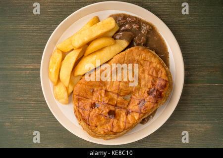 Steak Pie Chips And Gravy Stock Photo 129373569 Alamy