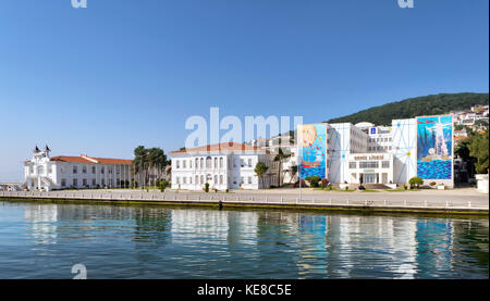 Istanbul, Turkey - April 27, 2017: Naval High School, located on Heybeliada Island (the second largest of the Prince - Stock Photo