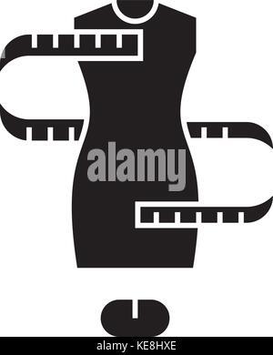 dress size - sizing -   icon, vector illustration, black sign on isolated background - Stock Photo
