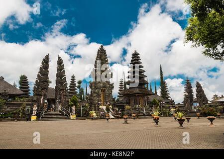 Important hindu Pura Ulun Danu Batur Temple in Bali, Indonesia. - Stock Photo