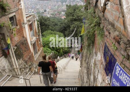 Noemie Repetto / Le Pictorium -  Nepal - Kathmandu. Swayambhumath Temple, also known as the Monkey Temple. -  20/09/2017 - Stock Photo