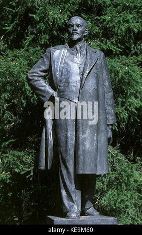 Lenin, pseudonym of Vladimir Ilyich Ulyanov (Simbirsk, now Ul'janovsk, 1870-Gorky, 1924) - Stock Photo
