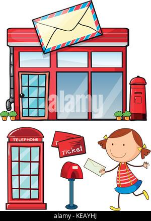 Post Office An Postal Service Set Stock Vector Image Art Alamy