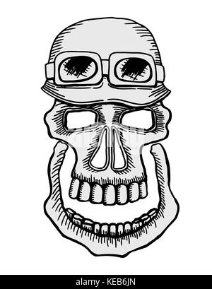 Stock Photo Vintage Biker Skull Emblem 113475344 on new york power lines
