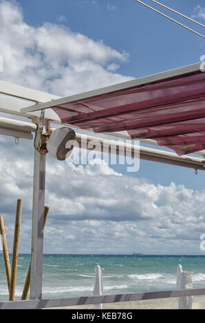 View of a beautiful bar in a beach - Stock Photo