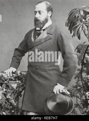 Edward VII (1841-1910). King of the United Kingdom and the British Dominions and Emperor of India from 1901 until - Stock Photo