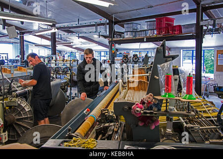 machine shop at Tregwynt mill.pemprokeshire.UK - Stock Photo