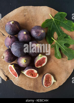 Figs on a black background - Stock Photo