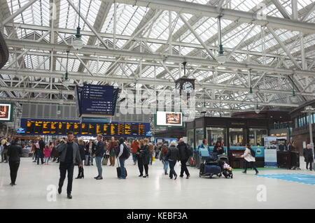 Central railway station, Glasgow, Scotland, United Kingdom. 16 September 2017. - Stock Photo