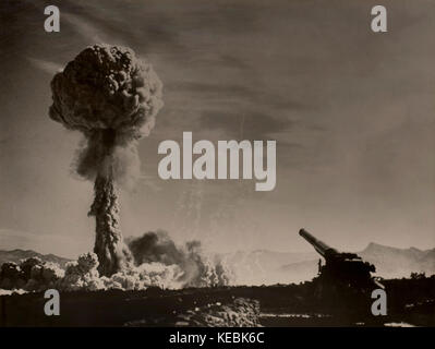 Atomic Cannon (Nuclear Artillery), Official U.S. Army photograph, 1950 - Stock Photo