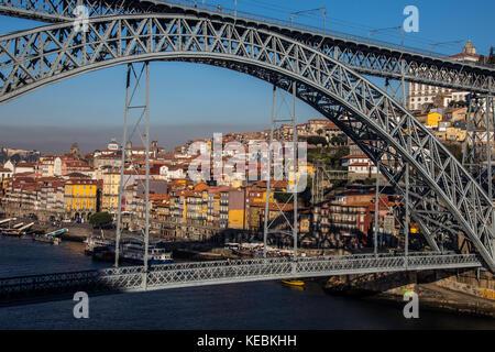 Ponte Dom Luiz I, Porto, Portugal - Stock Photo